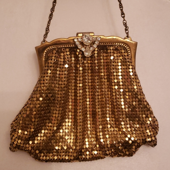 Chain mail Cross Body Purse  Vintage Whiting and Davis  Mid-Century Bag